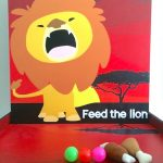 Feed the Lion carnival game stall rental