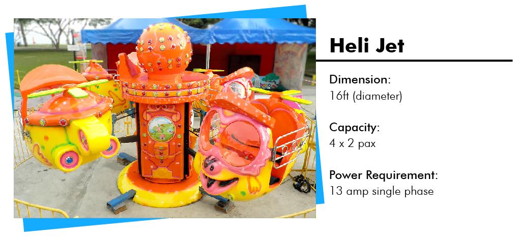 Heli Jet Carnival Rides Rental