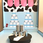 Milk Can Toss carnival game stall rental
