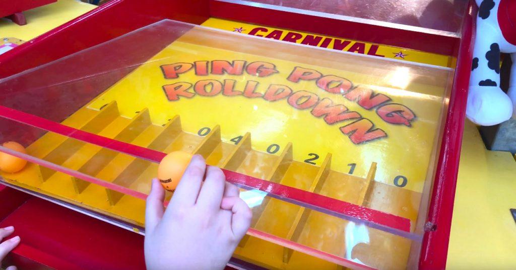 Ping Pong Rolldown Fun Fair Game Rental