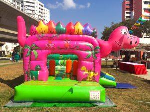 Pink Dinosaur Bouncy Castle Rental Singapore