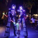 LED Robot Stilt Walker