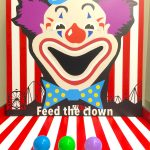 feed the clown carnival game stall rental