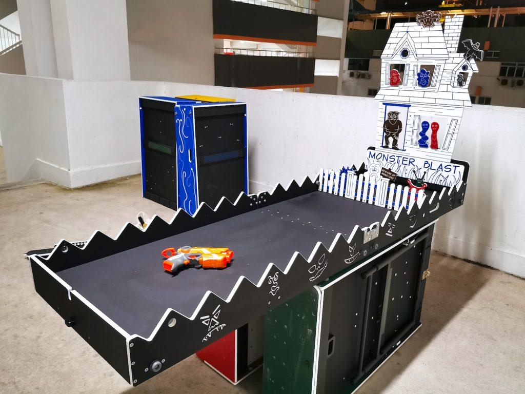 Monster Blast Carnival Game Booth Rental