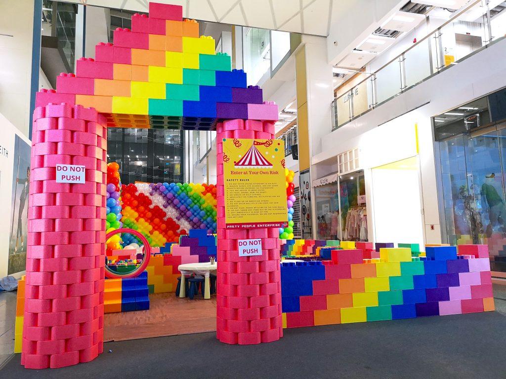 Rainbow Giant Lego Brick Playground