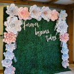 Green grass wall rental for decoration