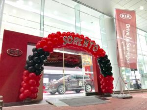 Balloon Arch for Showroom