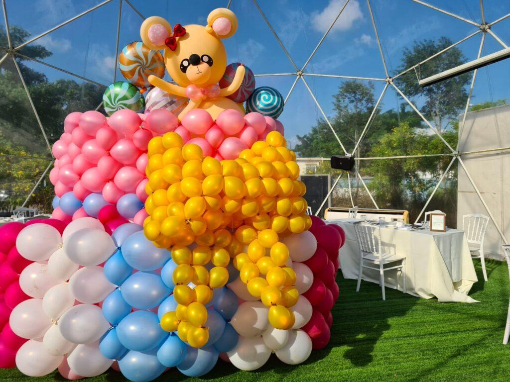 Balloon Birthday Cake Decorations