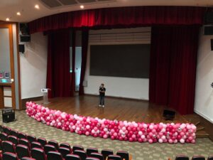 Balloon Decoration at Stage Front 1