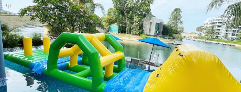 Inflatable Water Obstacle Course Rental Singapore e1615561143873