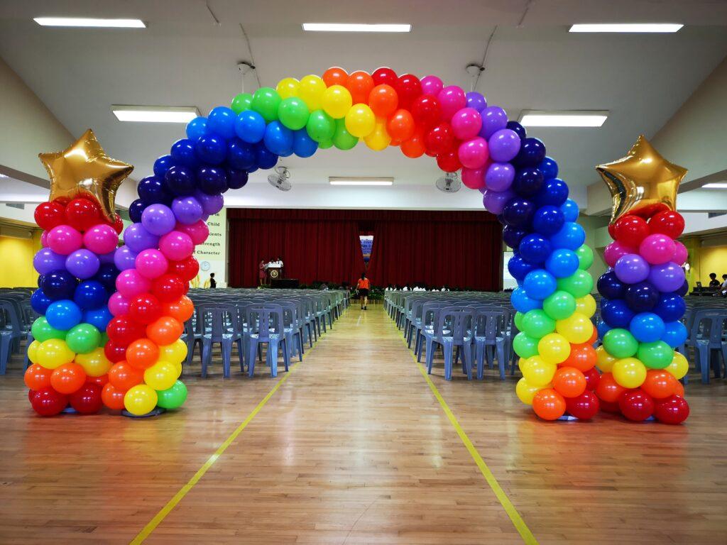 Rainbow Balloon Decorations Singapore 1