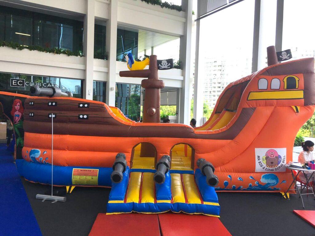 Large Pirate Ship Bouncy Castle Rental Singapore