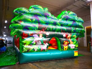Safari Inflatable Obstacle Course Rental