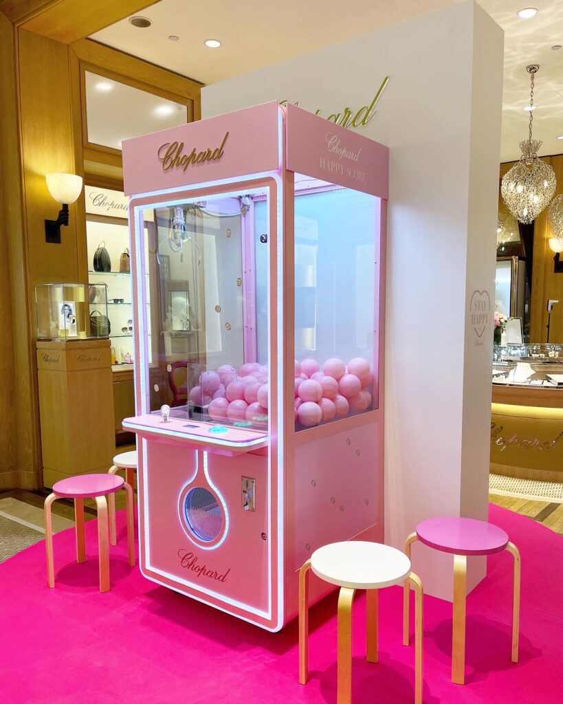 Customised Claw Machine Rental for Chopard Singapore
